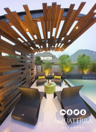 Adorable Wooden Privacy Fence Patio Backyard Landscaping Ideas 20