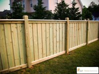 Adorable Wooden Privacy Fence Patio Backyard Landscaping Ideas 23