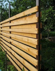 Adorable Wooden Privacy Fence Patio Backyard Landscaping Ideas 30