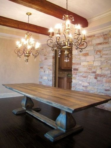 Inspiring Rustic Farmhouse Dining Room Design Ideas 03