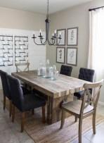 Inspiring Rustic Farmhouse Dining Room Design Ideas 12