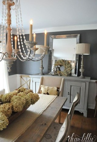 Inspiring Rustic Farmhouse Dining Room Design Ideas 14