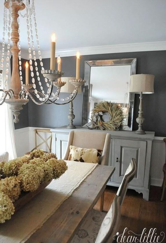 Inspiring Rustic Farmhouse Dining Room Design Ideas 14