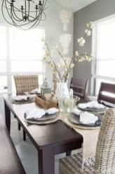 Inspiring Rustic Farmhouse Dining Room Design Ideas 19