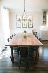 Inspiring Rustic Farmhouse Dining Room Design Ideas 25