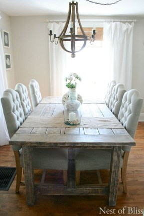 Inspiring Rustic Farmhouse Dining Room Design Ideas 30