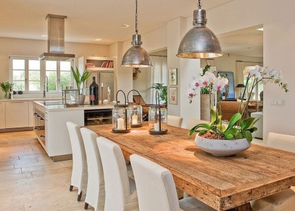 Inspiring Rustic Farmhouse Dining Room Design Ideas 32