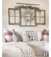 Amazing Rustic Farmhouse Living Room Decoration Ideas 02