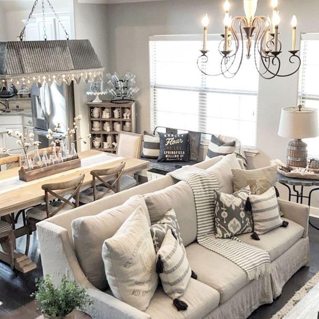 Amazing Rustic Farmhouse Living Room Decoration Ideas 15