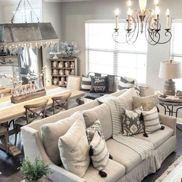 Amazing Rustic Farmhouse Living Room Decoration Ideas 15