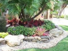 Beautiful Front Yard Rock Garden Design Ideas 14
