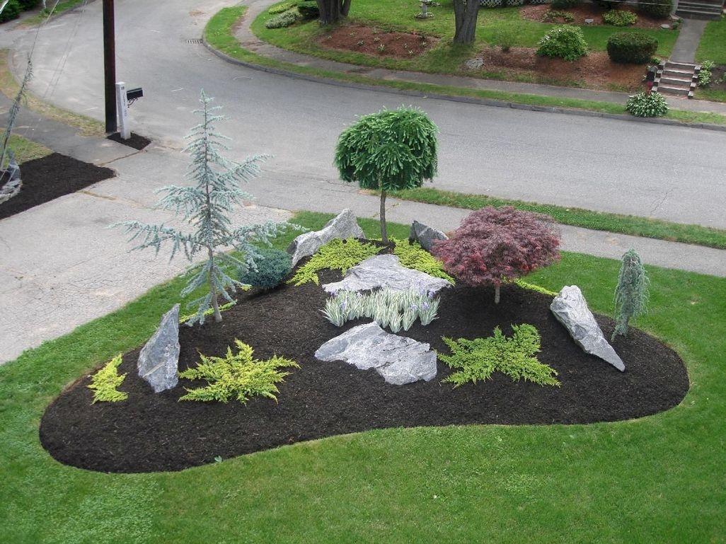 Beautiful Front Yard Rock Garden Design Ideas 25