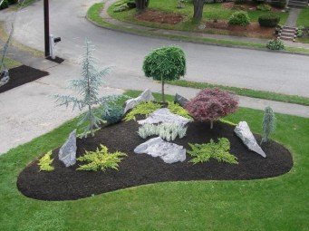 Beautiful Front Yard Rock Garden Design Ideas 25
