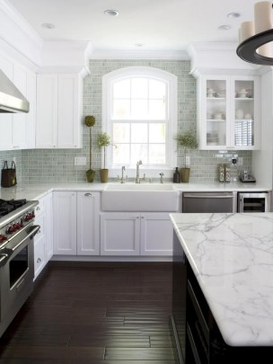Best White Kitchen Cabinet Design Ideas 07