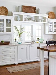 Best White Kitchen Cabinet Design Ideas 21