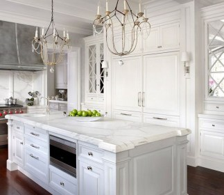 Best White Kitchen Cabinet Design Ideas 33
