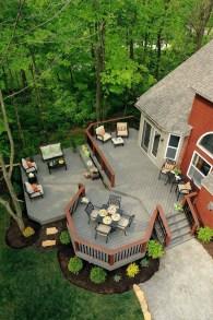 Cozy Backyard Patio Deck Design Decoration Ideas 05