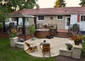 Cozy Backyard Patio Deck Design Decoration Ideas 15