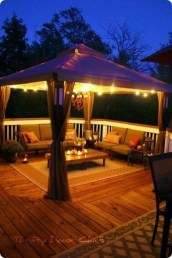 Cozy Backyard Patio Deck Design Decoration Ideas 36