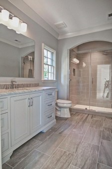 Fresh Rustic Farmhouse Master Bathroom Remodel Ideas 16