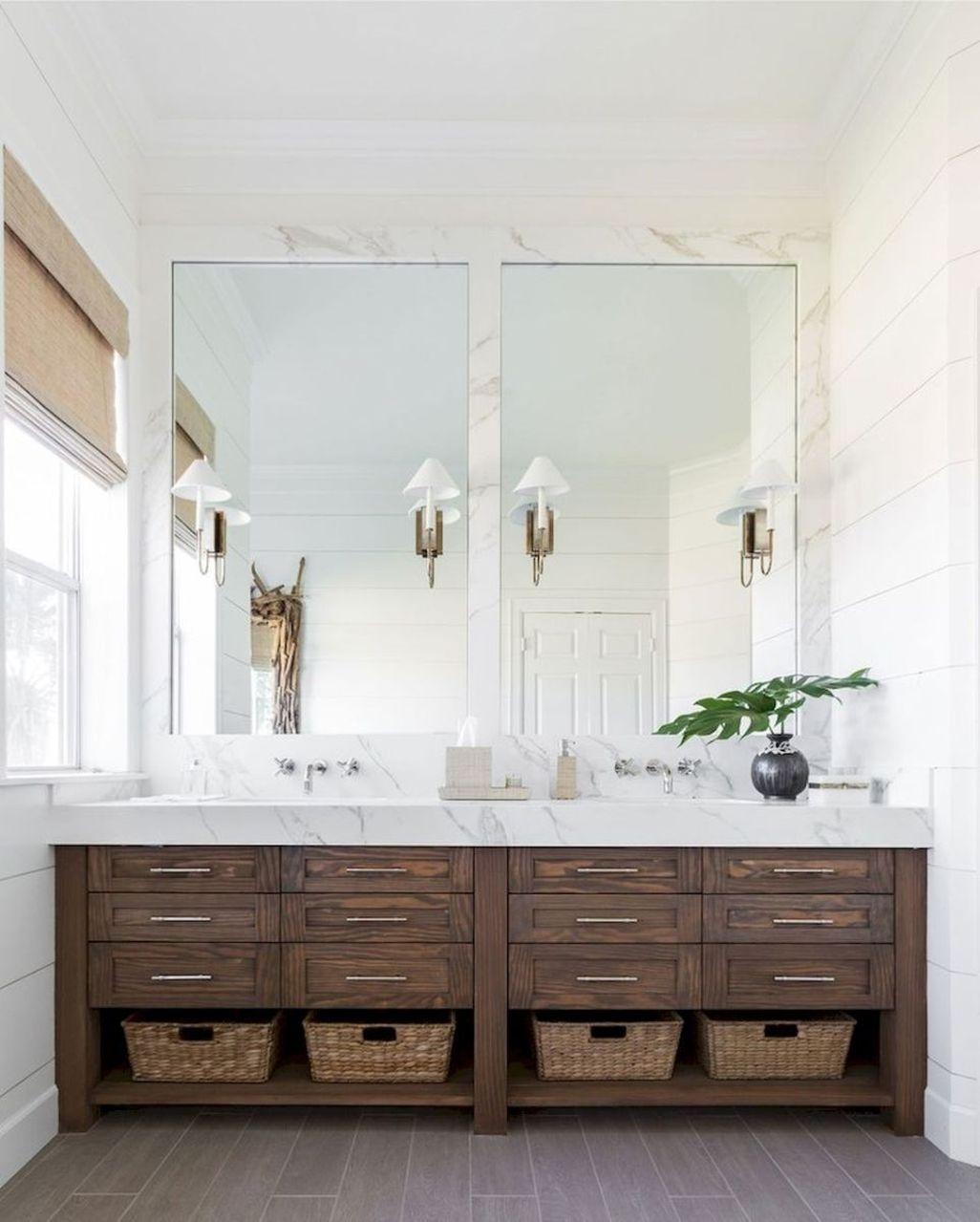 Fresh Rustic Farmhouse Master Bathroom Remodel Ideas 31
