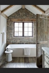 Fresh Rustic Farmhouse Master Bathroom Remodel Ideas 34