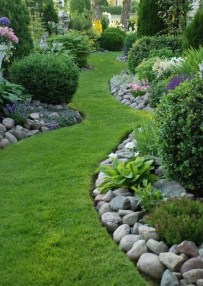 Stunning Front Yard Walkway Landscaping Design Ideas 28