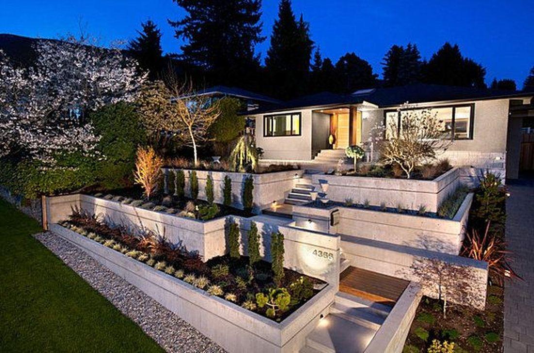Stunning Front Yard Walkway Landscaping Design Ideas 41