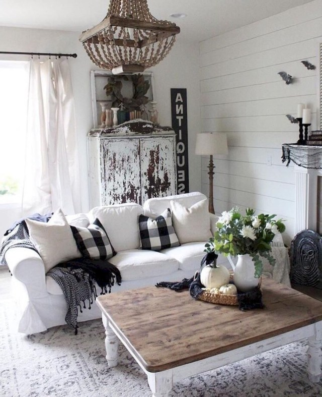 04 Cozy Modern Farmhouse Living Room Decor Ideas Modern