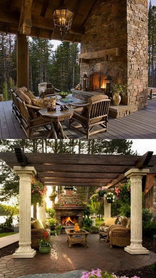 100 Amazing Outdoor Fireplace Designs Styleestate