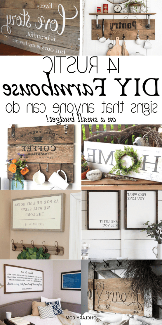 14 Farmhouse Sign Diy Ideas That Are Inexpensive To Make