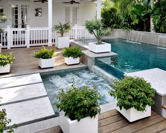 15 Hardwood Swimming Pool Decks Small Backyard Pools