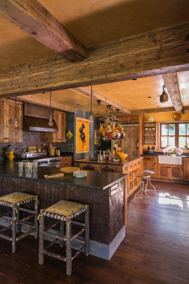 17 Beautiful Rustic Kitchen Interiors Every Rustic