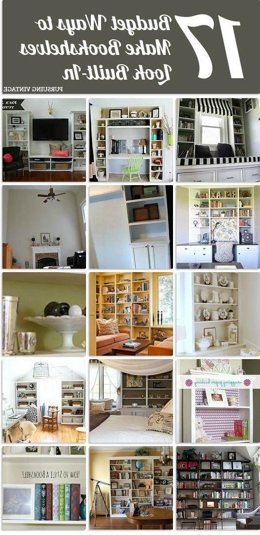 17 Budget Ways To Make Bookshelves Look Like Built Ins