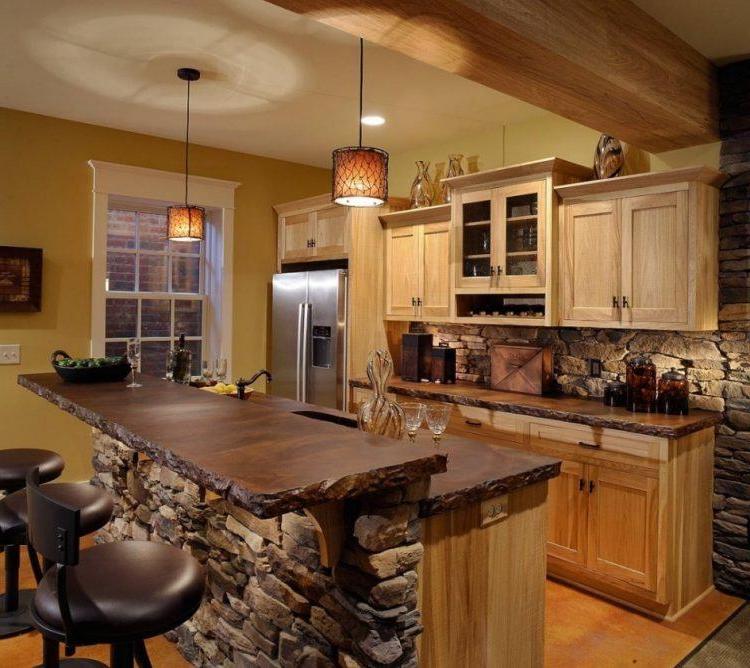 20 Beautiful Brick And Stone Kitchen Island Designs