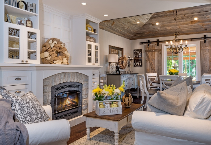 20 Farmhouse Living Room Designs Ideas Design Trends