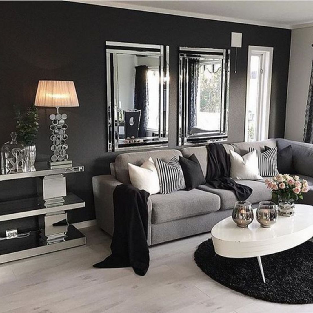 25 Elegant Gray Living Room Ideas For Your Amazing Home Inspiration Living Room Grey Black