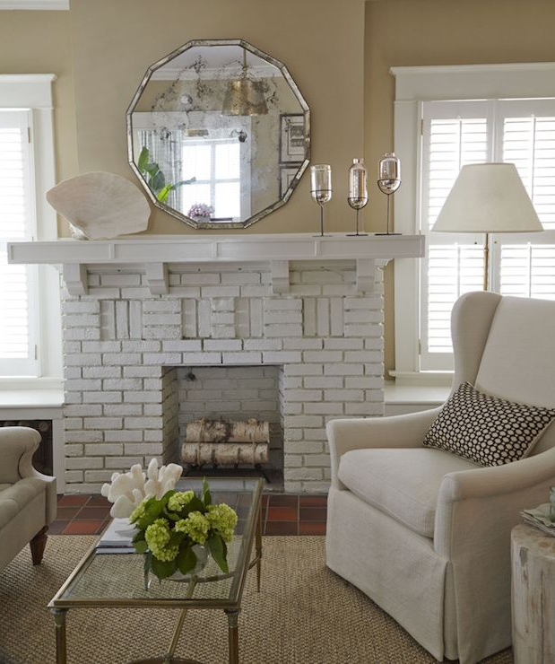 25 Living Room With White Brick Walls That Youll Love