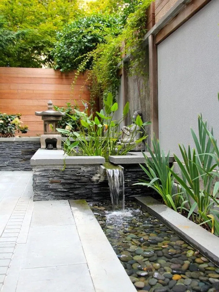 26 Unique Backyard Garden Water Feature Landscaping Ideas