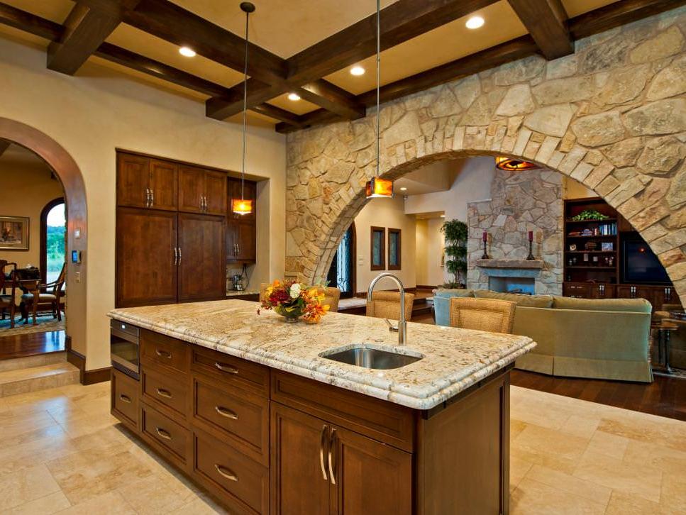 28 Stone Walled Kitchen Designs Decorating Ideas Design Trends Premium Psd Vector Downloads