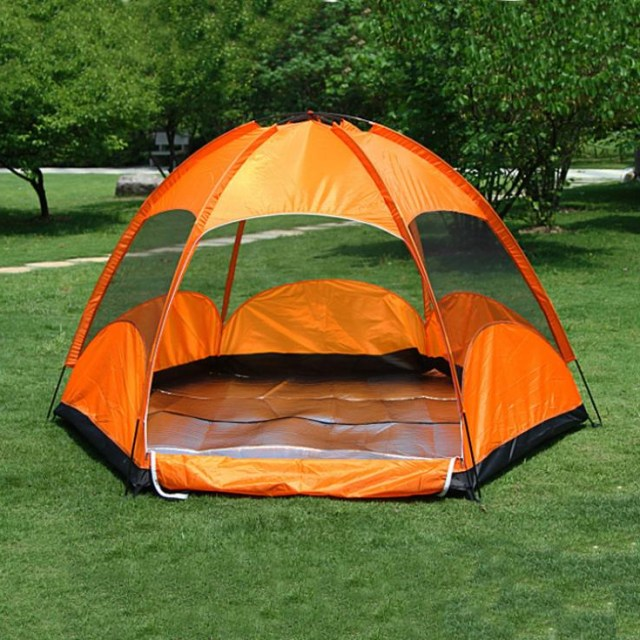 3 4 Person Family Gazebo Tents For Kids Outdoor Camping Equipment Sexangle Summer Lightweight