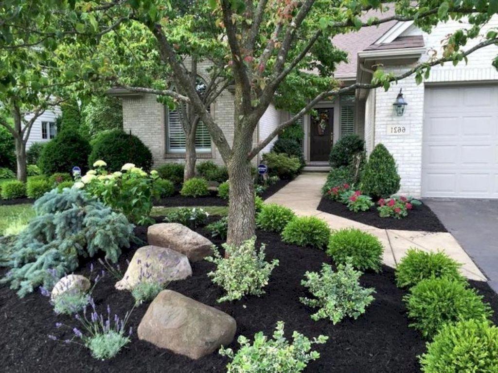 30 Beautiful Front Yard Rock Garden Landscaping Ideas On