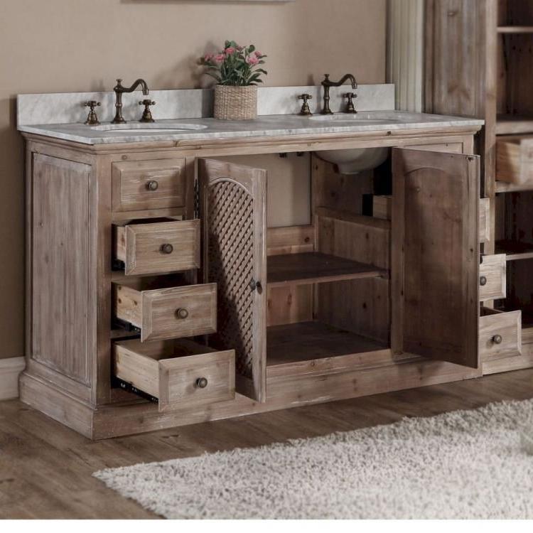 30 Rustic Farmhouse Bathroom Vanity Ideas Double Vanity
