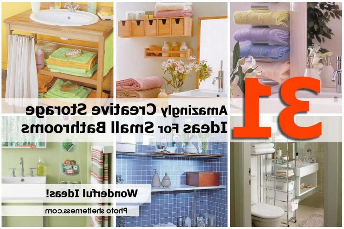 31 Amazingly Creative Storage Ideas For Small Bathrooms