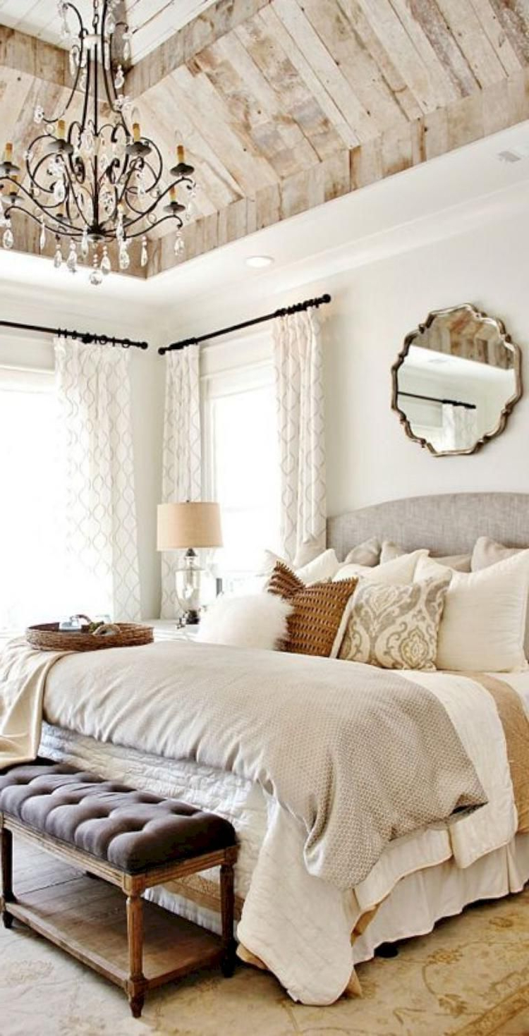 35 Cozy Modern Farmhouse Bedroom Design Ideas Rustic