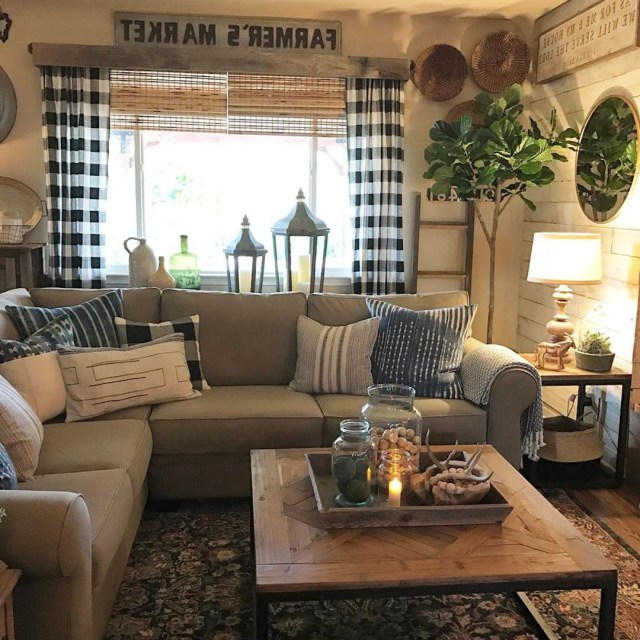 35 Most Popular Farmhouse Living Room Design And Decor
