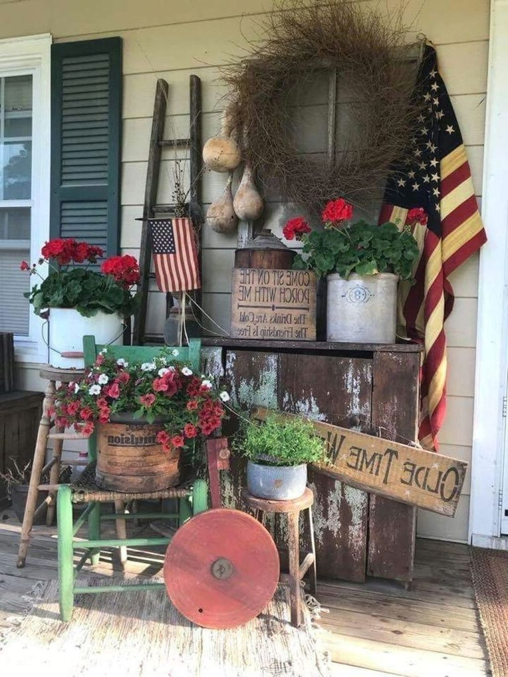 37 Gorgeous Farmhouse Front Porch Decorating Ideas Porch