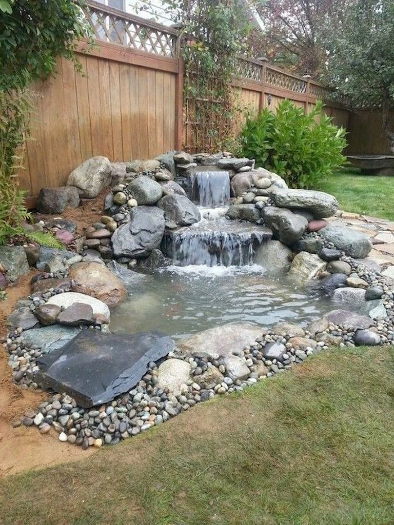 40 Awesome Diy Ponds Ideas With Small Waterfall With