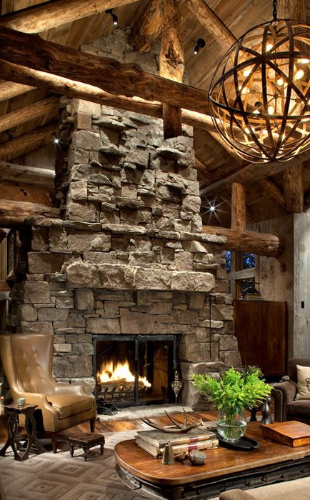 40 Awesome Rustic Living Room Decorating Ideas House
