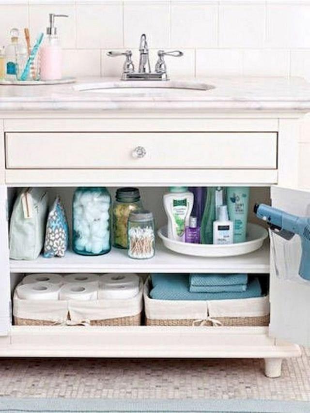 40 Beautiful And Cool Bathroom Organization Tips Ideas